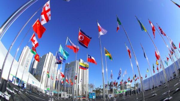 JO-2018: le drapeau nord-coréen tabou hissé au Sud