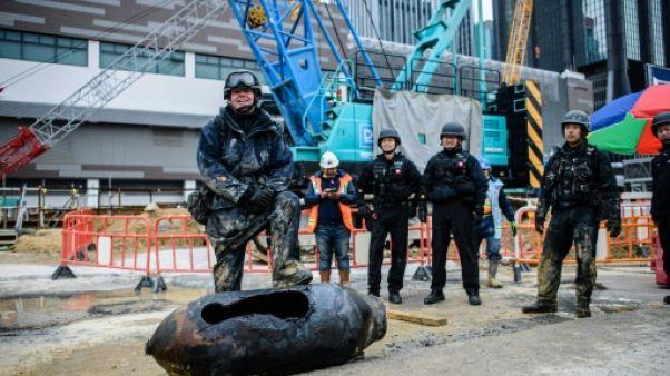 Une seconde bombe de la Deuxième Guerre mondiale trouvée en une semaine à Hong Kong