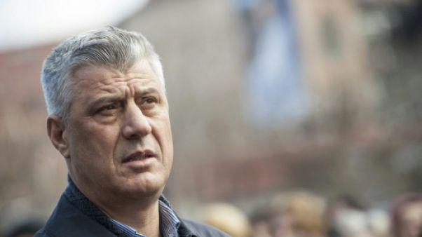 """Kosovo: Thaçi veut """"un accord historique"""" avec Belgrade en 2018"""