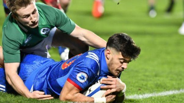 Rugby: les -20 ans français débutent bien devant l'Irlande