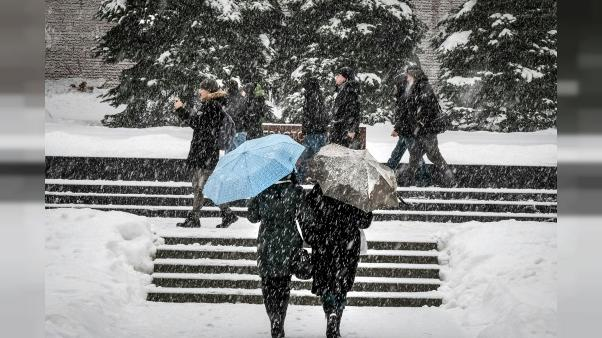 Moscou au ralenti après une tempête de neige record