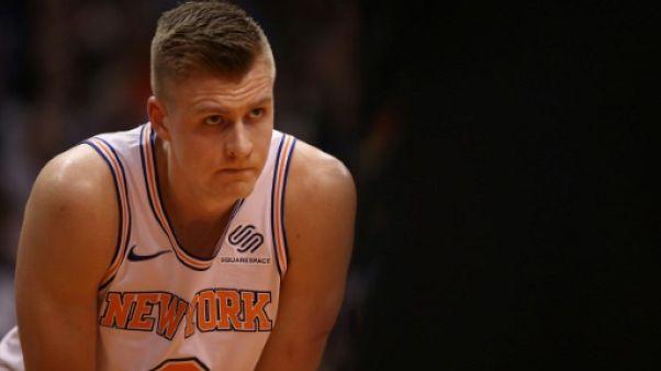 NBA: saison terminée pour la star des Knicks, le Letton Porzingis