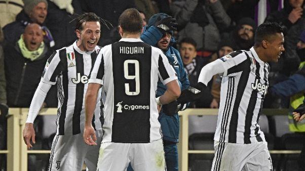 Anticipo serie A: Fiorentina-Juve 0-2