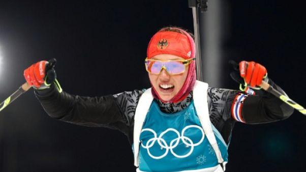 JO-2018: la biathlète allemande Laura Dahlmeier sacrée sur le sprint