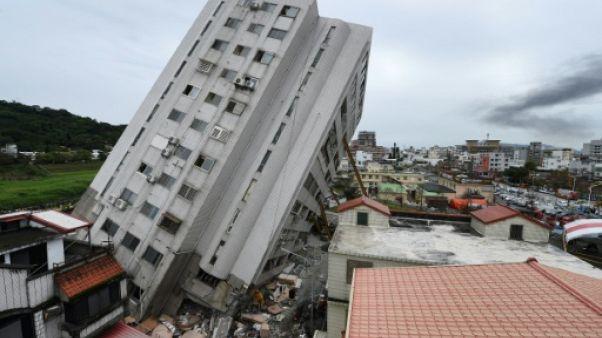 Séisme à Taïwan: quinze morts, selon un nouveau bilan