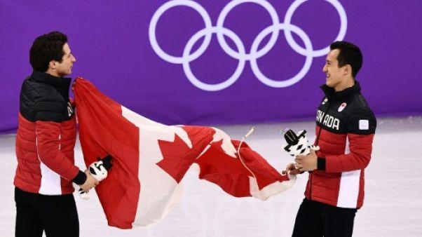 JO-2018: le Canada en or devant la Russie en patinage artistique