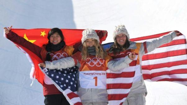 JO-2018: l'Américaine Chloe Kim remporte son premier titre olympique en halfpipe