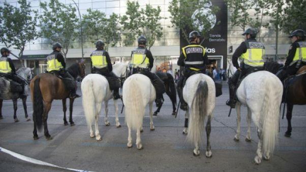 """Real Madrid-PSG: 1.800 agents de police déployés pour match """"à haut risque"""""""