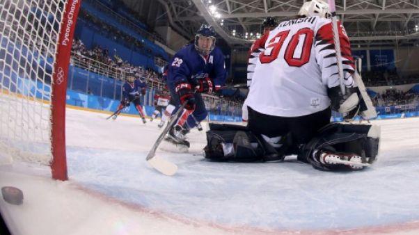 JO-2018: la Corée unifiée de hockey marque son premier but, mais perd encore