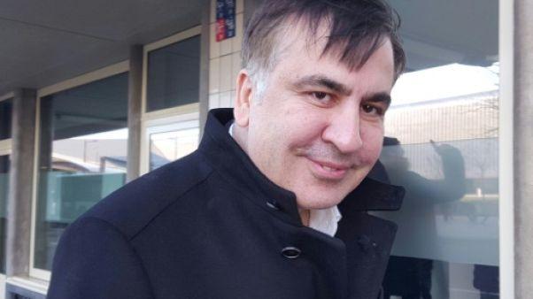 """L'ex-président géorgien Saakachvili poursuit son """"combat"""" aux Pays-Bas"""