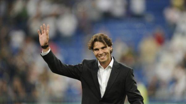 """Nadal, fan du Real et roi de Paris, figure du """"tifo"""" du Bernabeu"""