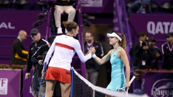 Tennis: Pliskova trop forte pour Cornet à Doha
