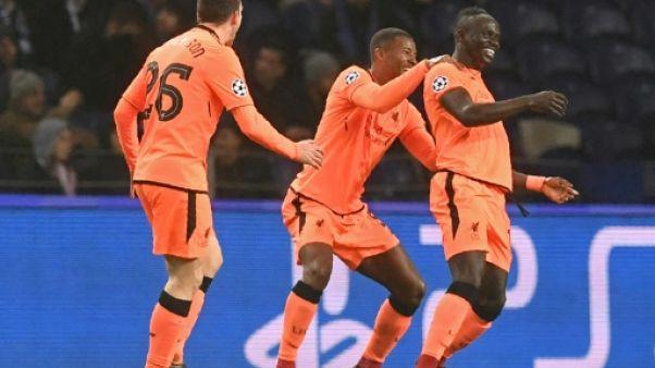 Ligue des champions: Liverpool presque en quarts grâce au triplé de Mané à Porto