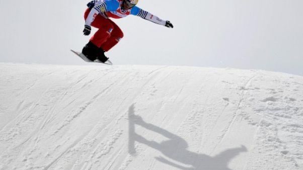 JO-2018: Vaultier meilleur temps de la manche de classement du snowboardcross