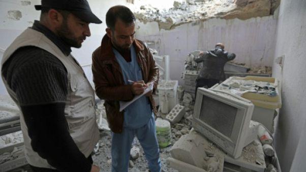 Syrie: sept hôpitaux touchés en deux semaines de raids aériens à Idleb