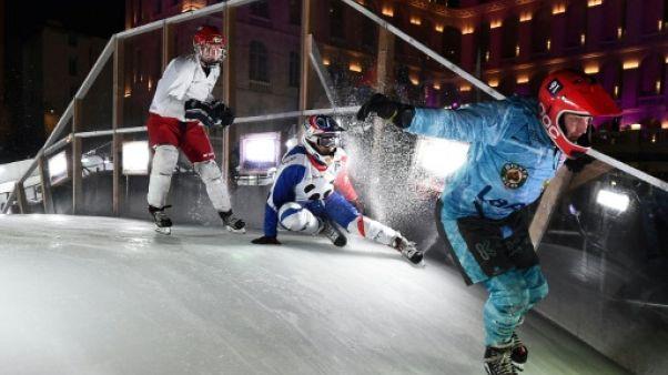 Le 'crashed ice' veut faire craquer les Jeux