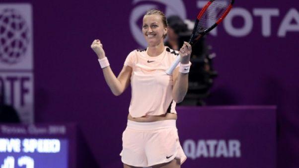 Tennis: Kvitova se paye Wozniacki et rejoint Muguruza en finale à Doha