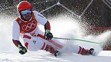 Olympics - Alpine skiing: Austria's Hirscher takes command in giant slalom