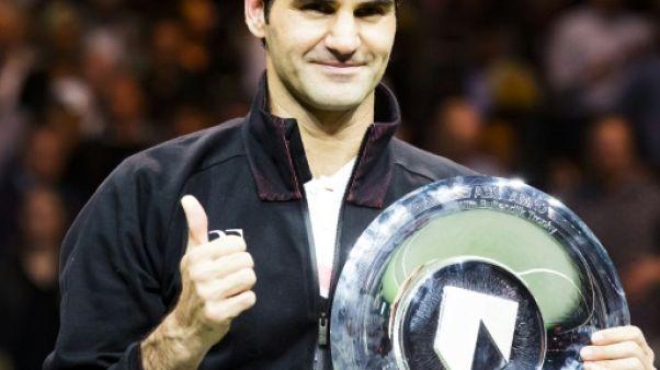 """Tennis: la """"superbe semaine"""" de Federer à Rotterdam, N.1 mondial avec un 97e trophée"""