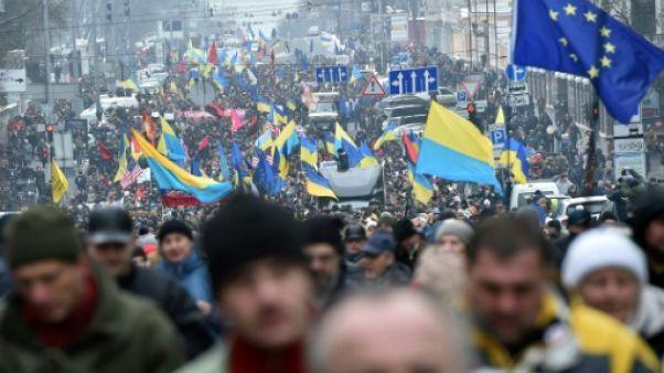 Des milliers d'Ukrainiens manifestent à Kiev en soutien à Saakachvili