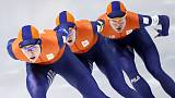 Dutch set Olympic record in team pursuit qualifier
