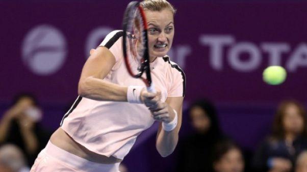 Tennis: Kvitova forfait à Dubai à cause d'une blessure à une jambe