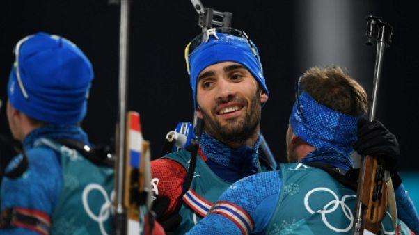 JO-2018: Fourcade repart au combat avec les Bleus lors du relais mixte