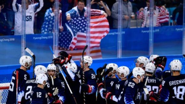 JO-2018: les hockeyeurs américains, soulagés, vont en quarts