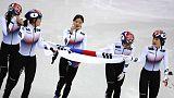 Olympics - Short track-South Korea wins 3,000 metres relay gold