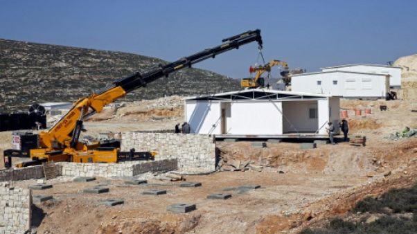 Israël installe les maisons d'une nouvelle colonie, une première depuis 1991