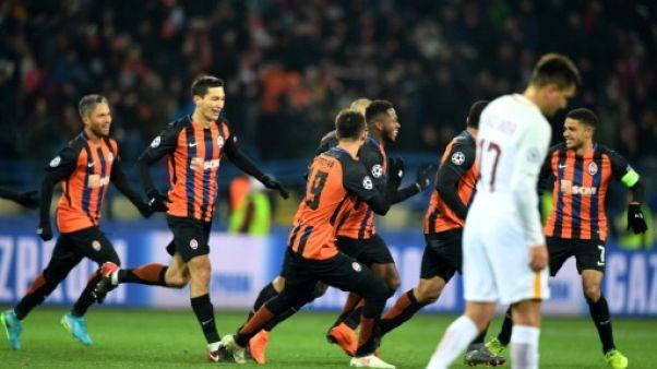 Ligue des champions: la Roma écoeurée par le Shakhtar, encore intouchable chez lui