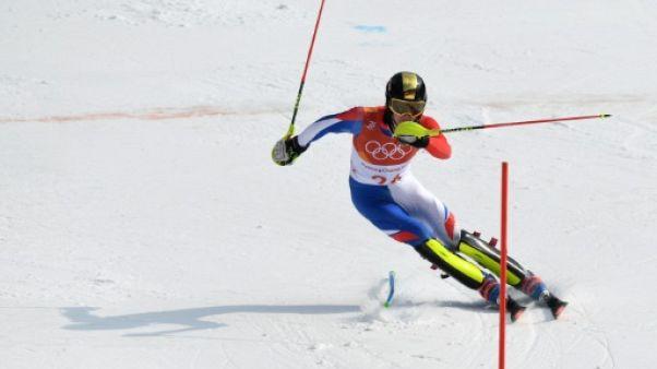 JO-2018: tir groupé des Bleus au pied du podium du slalom, Myhrer en or