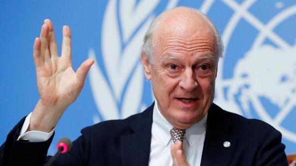 دي ميستورا يتوقع محادثات صعبة لاتفاق وقف إطلاق النار في الغوطة الشرقية