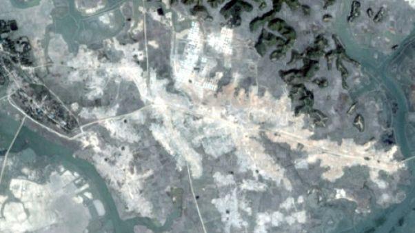 Birmanie: les villages rohingyas rasés visibles sur images satellite