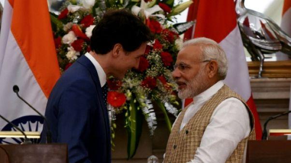 Trudeau rencontre Modi au terme de sa désastreuse visite en Inde