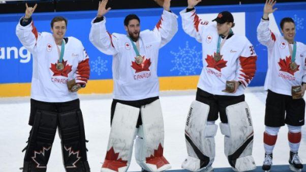 JO-2018: les hockeyeurs canadiens se consolent avec la médaille de bronze