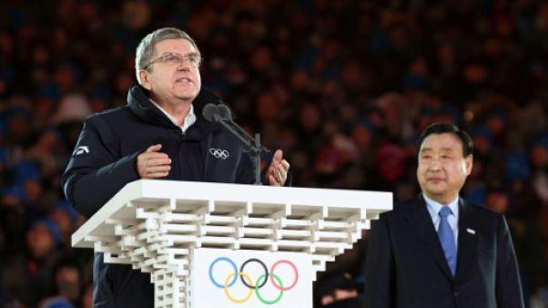 """JO-2018: le président du CIO clôture les Jeux de Pyeongchang, des """"Jeux de nouveaux horizons"""""""