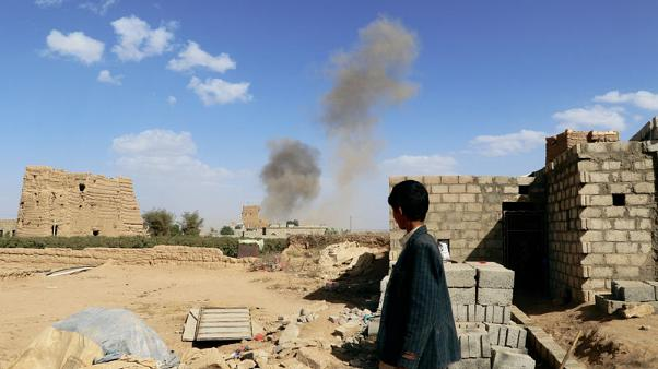 شاهد من رويترز : غارات جوية تقتل خمسة مدنيين في اليمن