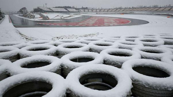 الثلوج تضرب تجارب فورمولا 1