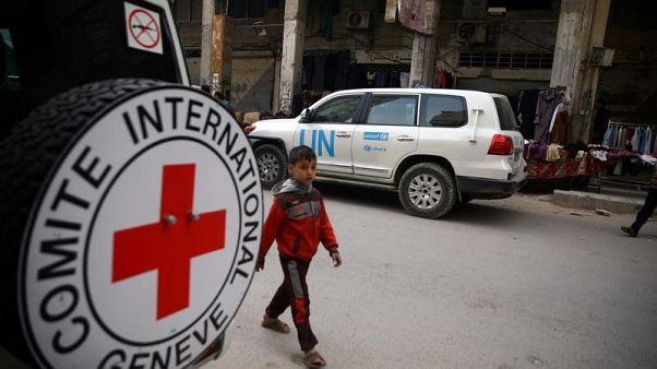 الصليب الأحمر: قافلة مساعدات تصل إلى عفرين بسوريا