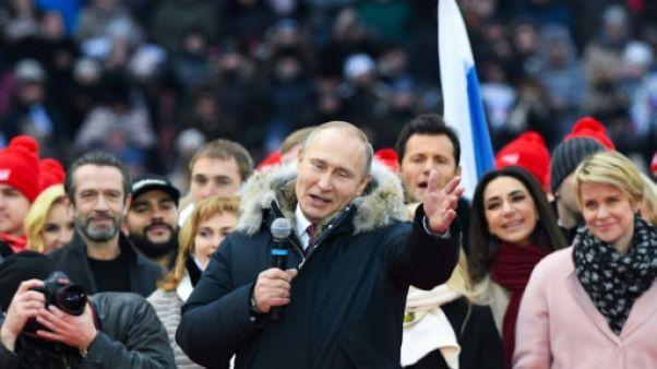 """Présidentielle: Poutine promet des """"victoires brillantes"""" à la Russie"""