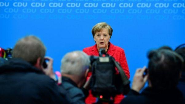 Merkel promet de se mettre au travail vite au nom de l'Europe