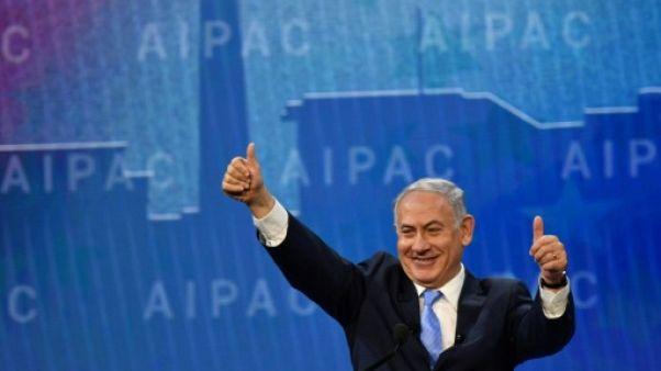 """A Washington, Netanyahu s'offre un répit et tape sur la """"brute"""" iranienne"""