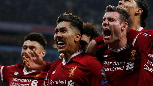 صلاح وفيرمينو يرسلان ليفربول لقبل نهائي دوري الأبطال