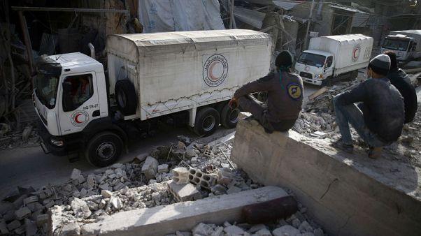 الجيش الروسي يقول إنه ساعد على إجلاء 13 مدنيا من الغوطة الشرقية بسوريا