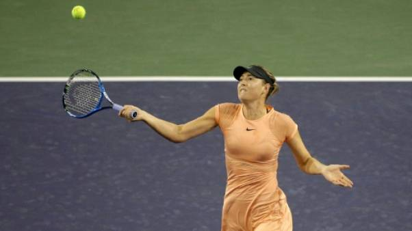 Tennis: retour écourté à Indian Wells pour Sharapova