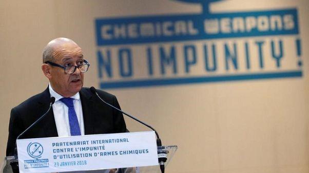 فرنسا تدعو روسيا وإيران مجددا لضمان احترام سوريا قرار وقف إطلاق النار