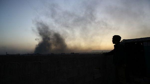 التلفزيون السوري: خروج مسلحين ومدنيين من حرستا في الغوطة الشرقية
