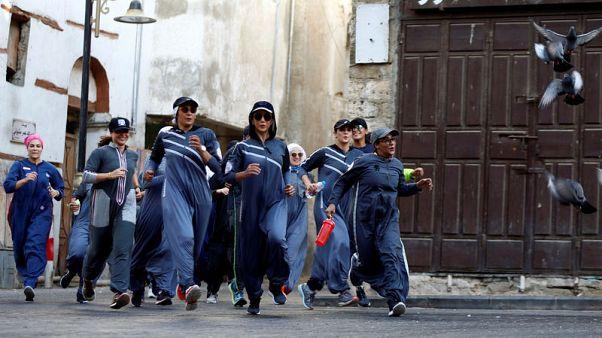 سعوديات يحتفلن باليوم العالمي للمرأة بالركض في شوارع جدة