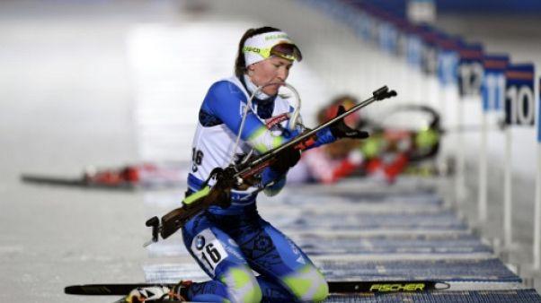 Biathlon: Domracheva s'impose au sprint à Kontiolahti, Dorin première Française (8e)